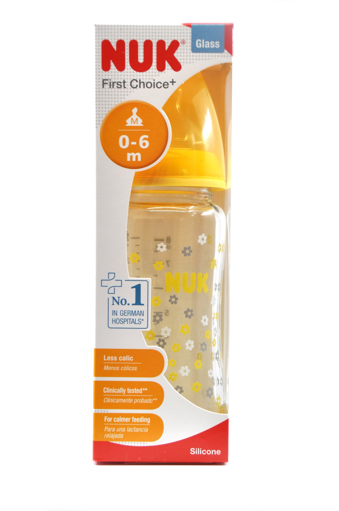 NUK First Choice Plus Bottle Glass Size 1 240ml
