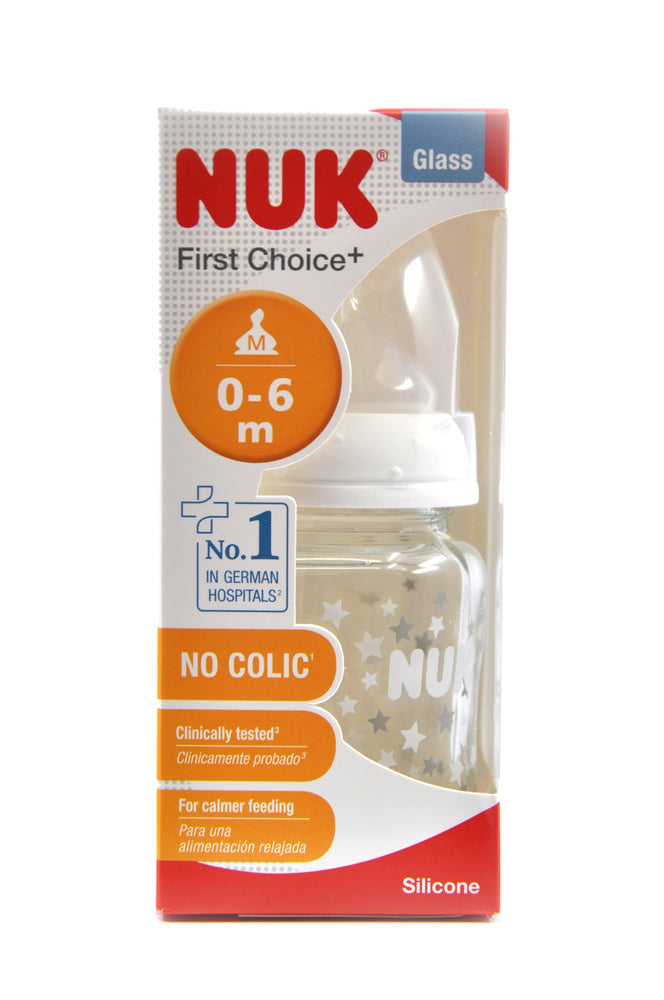 NUK First Choice Plus Bottle Glass Silicone Size 1 120ml