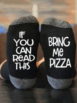 BRING ME PIZZA Casual Socks