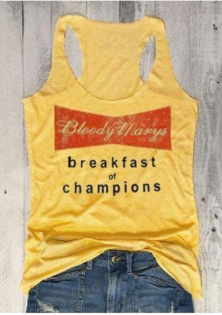 Bloody Marys Breakfast Of Champions Tank Top
