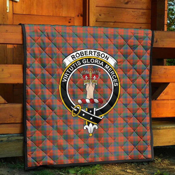 [PRE-SALE] Robertson Ancient Tartan Clan Badge Blanket Quilt