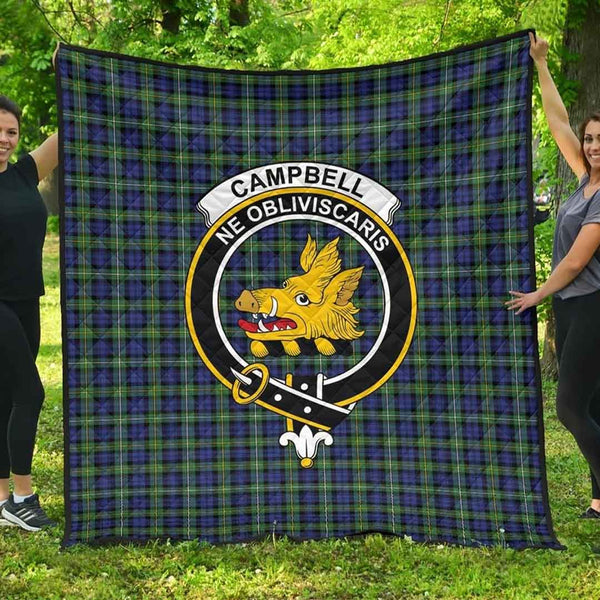 [PRE-SALE] Campbell Argyll Ancient Tartan Clan Badge Blanket Quilt