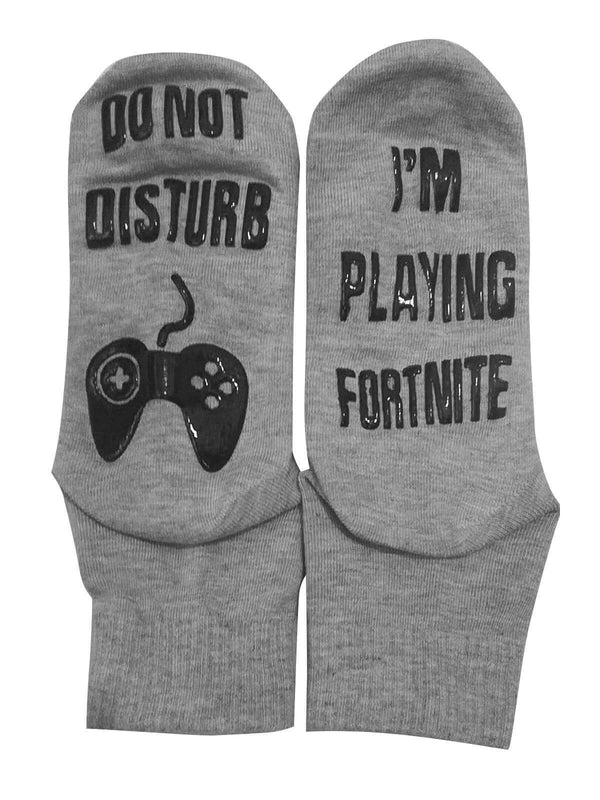 I'm Playing Fortnite Socks Gray Black White