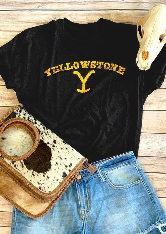 Yellowstone Letters Printed Tee