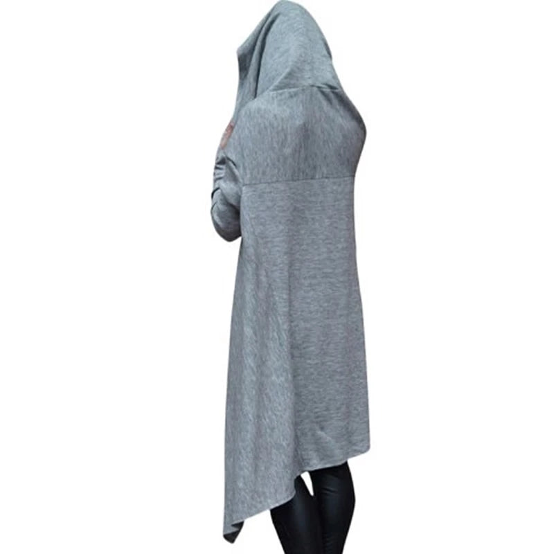 Solid Long Robe Hoodies