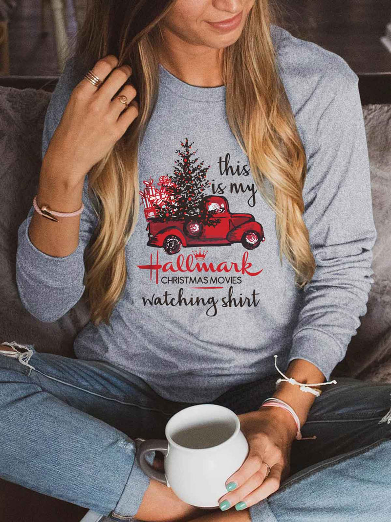 [US FAST DELIVERY] This Is My Hallmark Movies Watching Sweatshirt Gray