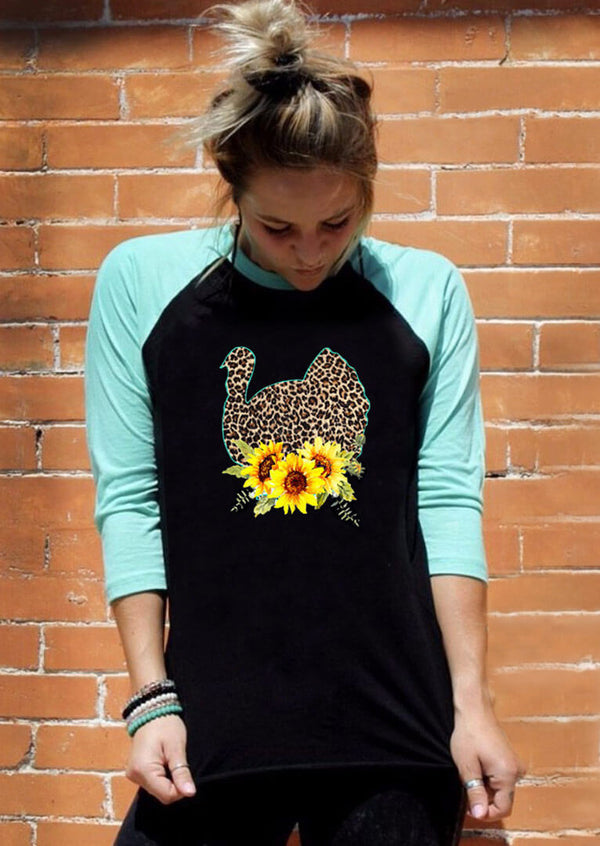 Sunflower Turkey Leopard Printed Tee