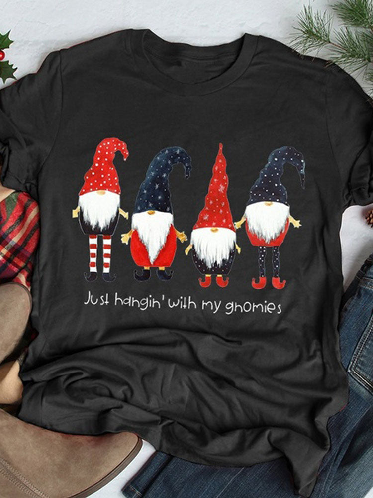 Just Hangin' With My Gnomies Cute Tee