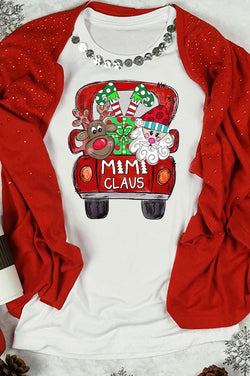 Mimi Claus Christma Long Sleeve Tee