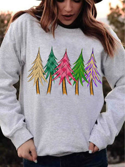 Colorful Bling Trees Sweatshirt
