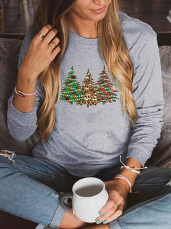 [US FAST DELIVERY] Lights Decorated Trees Sweatshirt