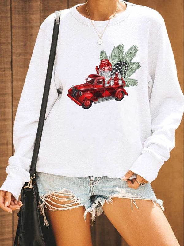 Gnomies On The Red Truck Sweatshirt
