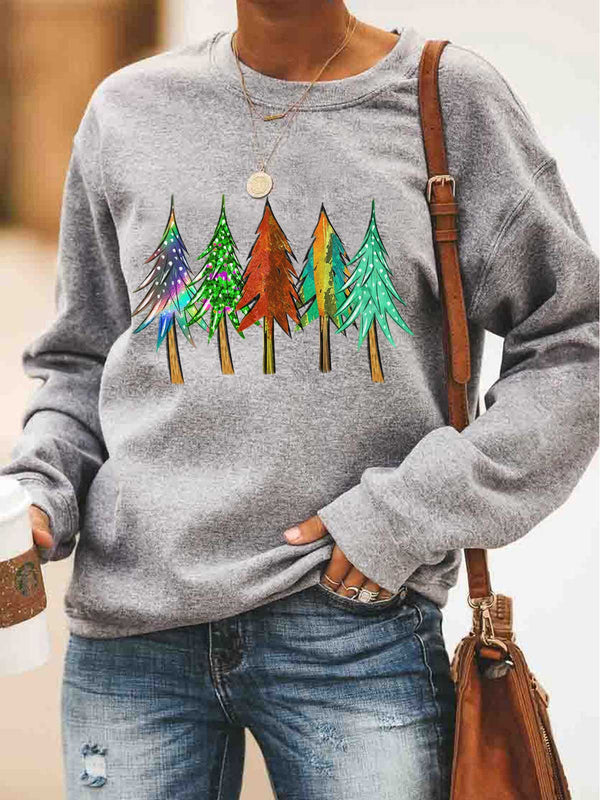 Trees Printed Sweatshirt