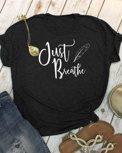 Just Breathe Printed Tee