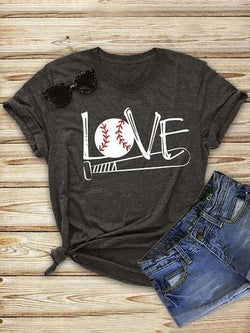 Love Baseball Black Tee