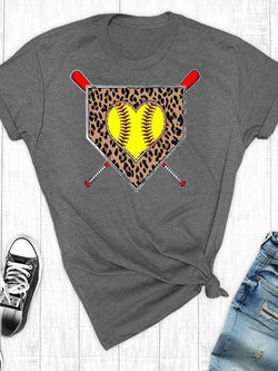 Home Plate Softball Love Tee