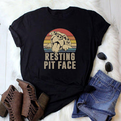 Resting Pit Face Dog Mom Tee