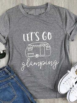 Let's Go Glamping Happer Camper Tee