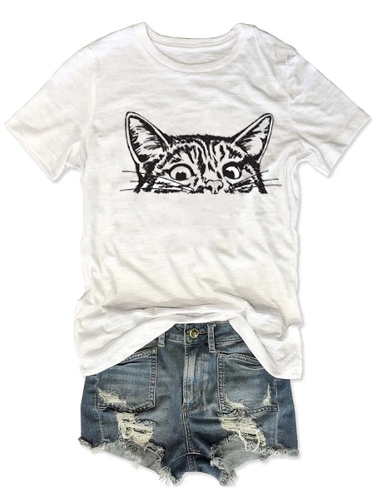 Kitty is Peeping At You Center Tee
