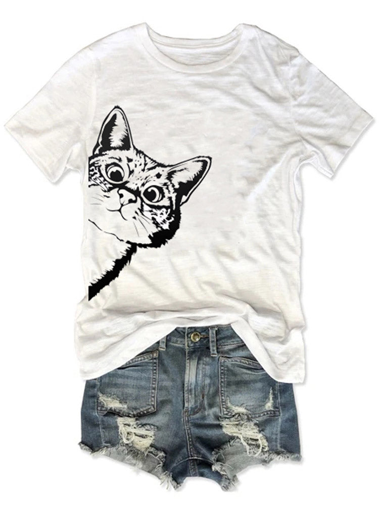 Kitty is Peeping At You Left Tee
