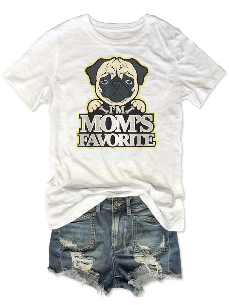 Pug I'm Mom's Favorite Tee