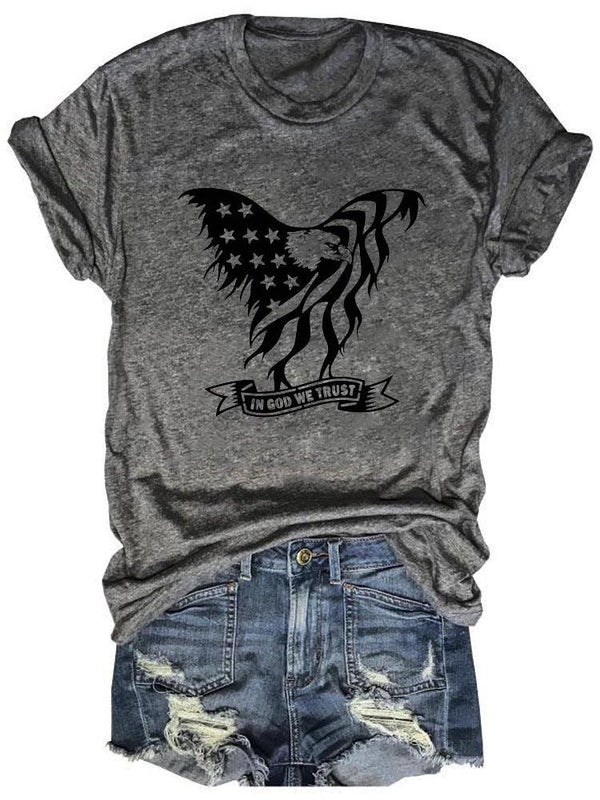 Bald Eagle In God We Trust Tee