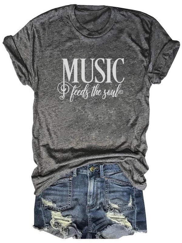 Music Feeds The Soul Tee