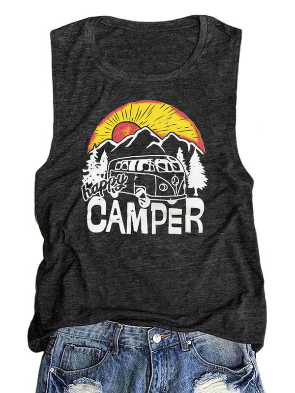 Happy Camper Rolling In The Mountain Sunset Tank