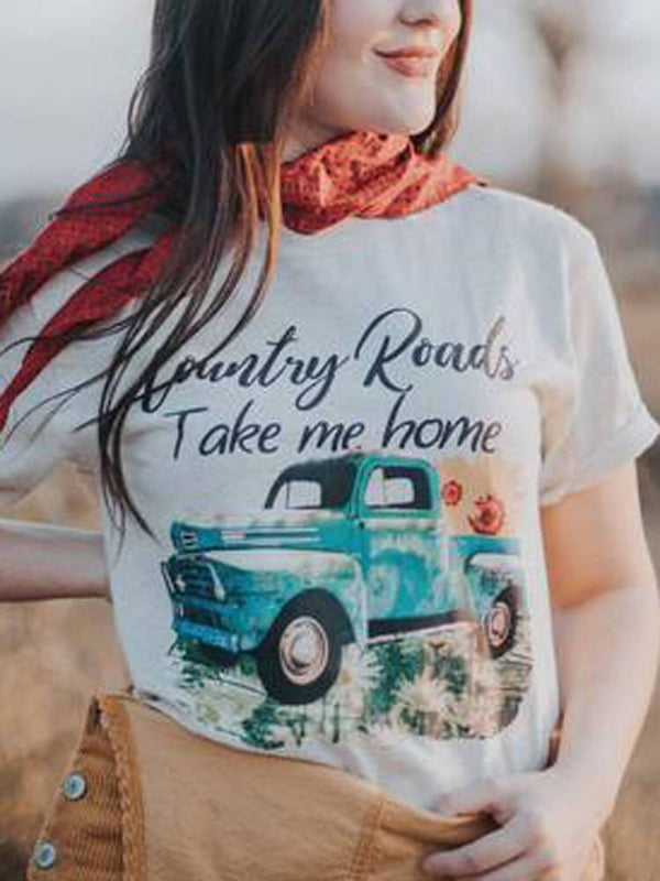 Country Road Take Me Home Vintage Truck Tee