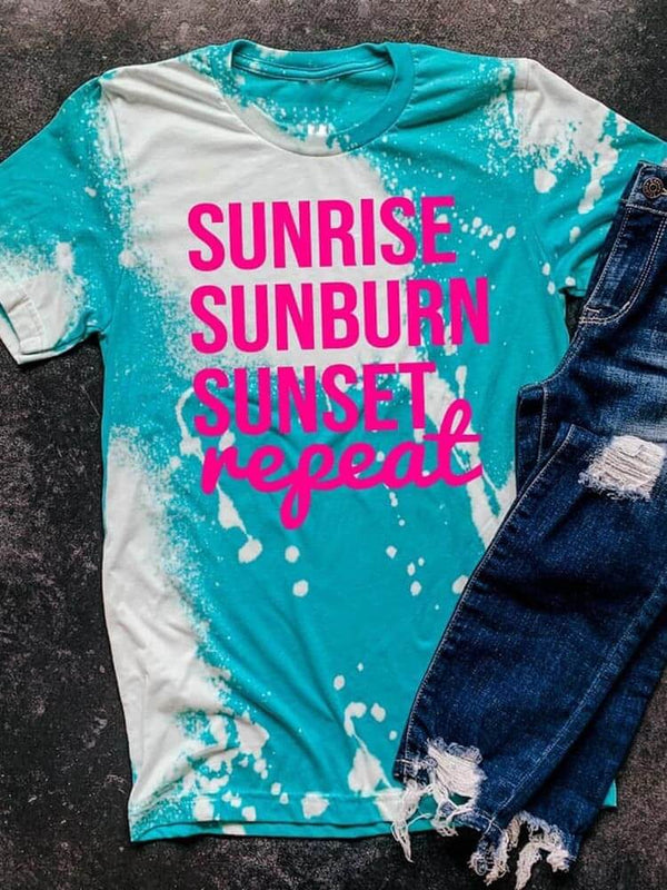 [PRE-SALE] Sunrise Sunburn Sunset Repeat Tie Dye T-Shirt