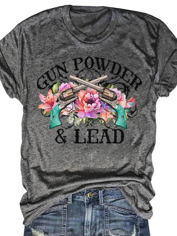 Gun Powder And Lead Gray Tee