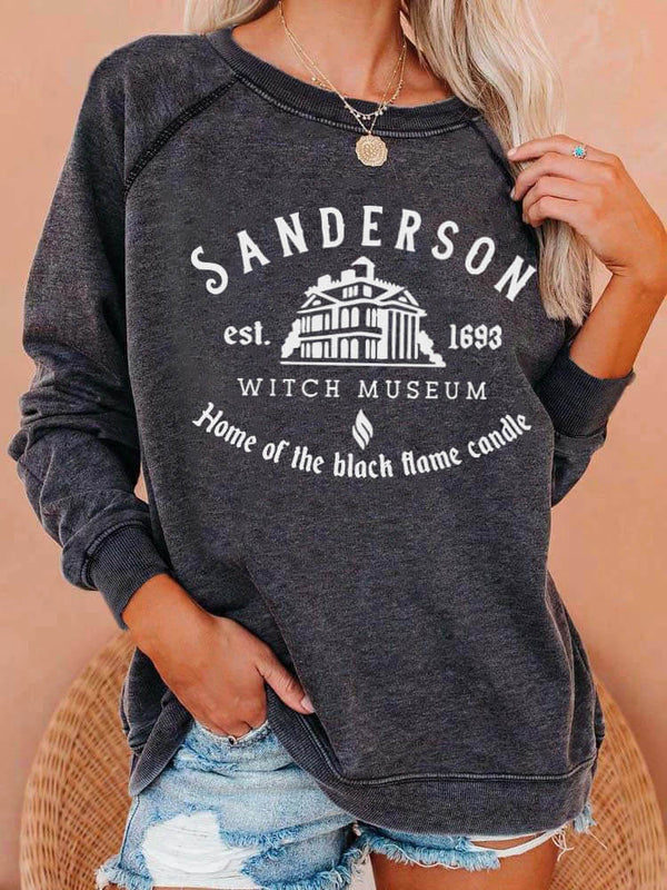 Sanderson Witch Museum Raglan Sleeved Sweatshirt