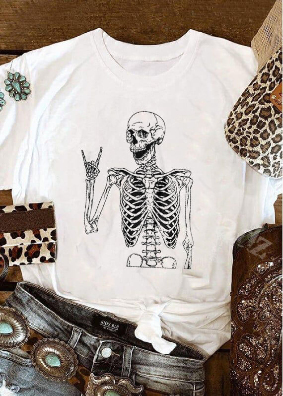 Rocker Skeleton Vintage Tee