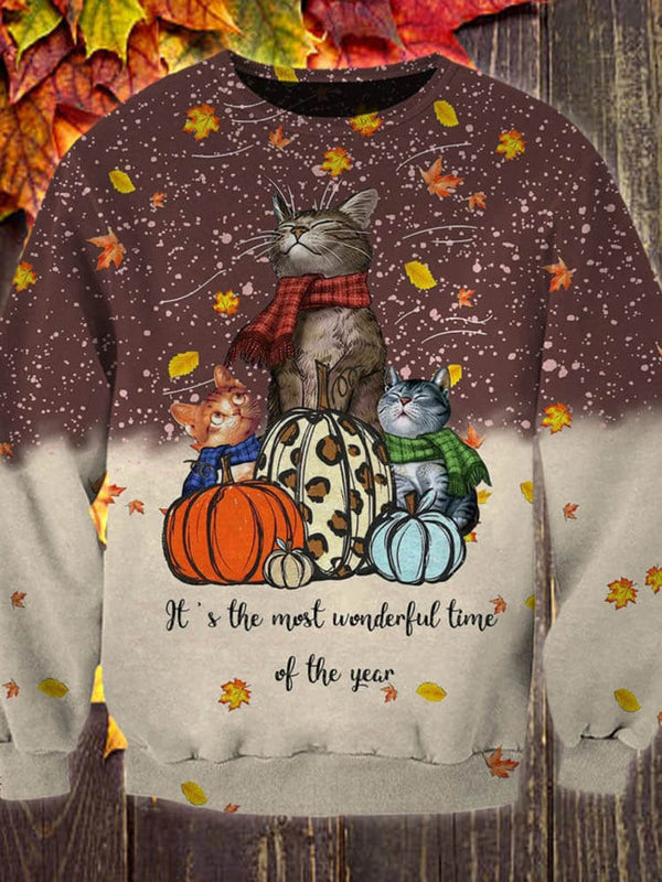 Cat Lovers Most Wonderful Time Of The Year Sweatshirt