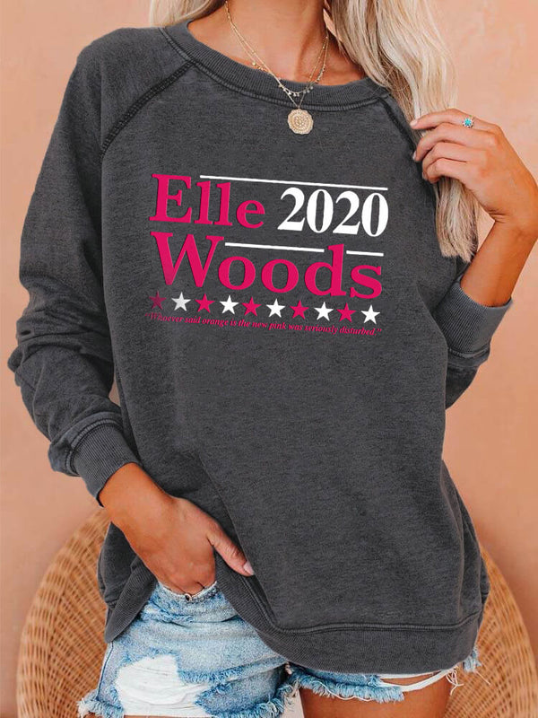 Elle Woods 2020 Raglan Sleeved Sweatshirt