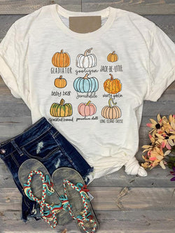 Fall Pumpkin Varities Tee