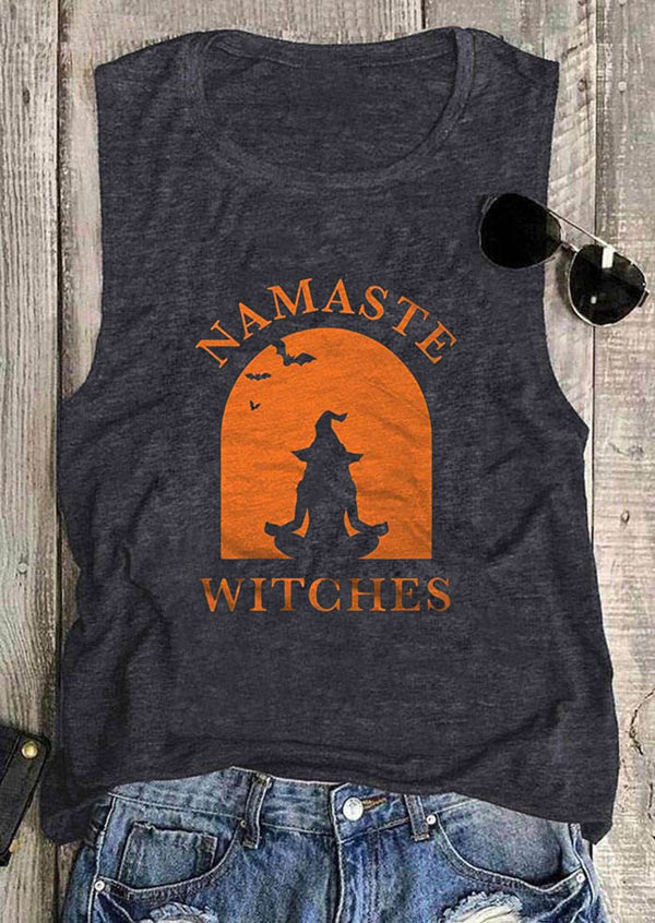 Namaste Witches Halloween Tank