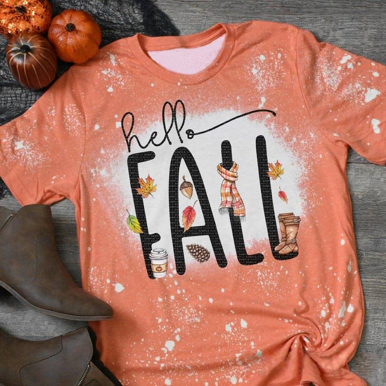 Hello Fall Novelty Printed Tee