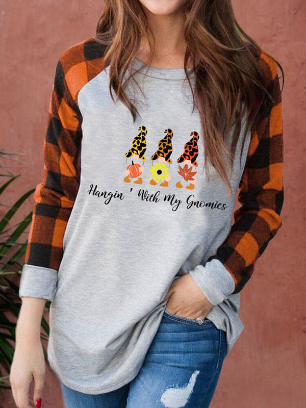 [PRE-SALE] Hangin' With My Gnomies Fall Splicing Sweatshirt