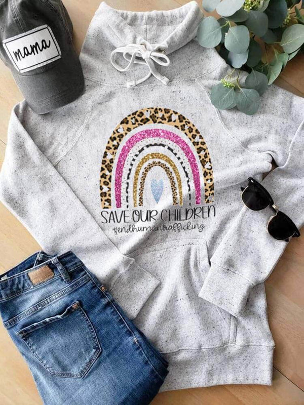 Save Our Children Leopard Rainbow Sweatshirt