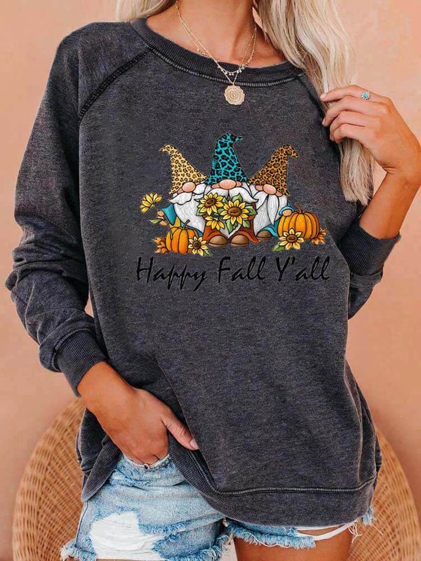 Happy Fall Y'all Gnomies In Sunflowers Sweatshirt