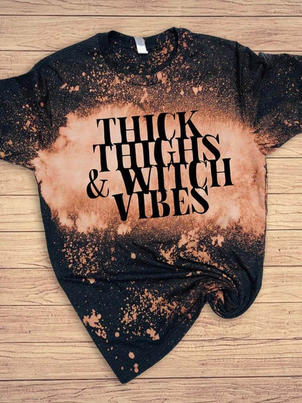 [PRE-SALE] Thick Thighs & Witch Vibes Halloween Tee