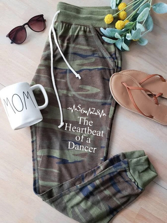 [PRE-SALE] 5678 Heartbeat Of A Dancer Camouflage Sweatpants
