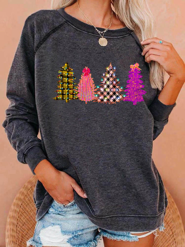 Bright Christmas Trees Sweatshirt