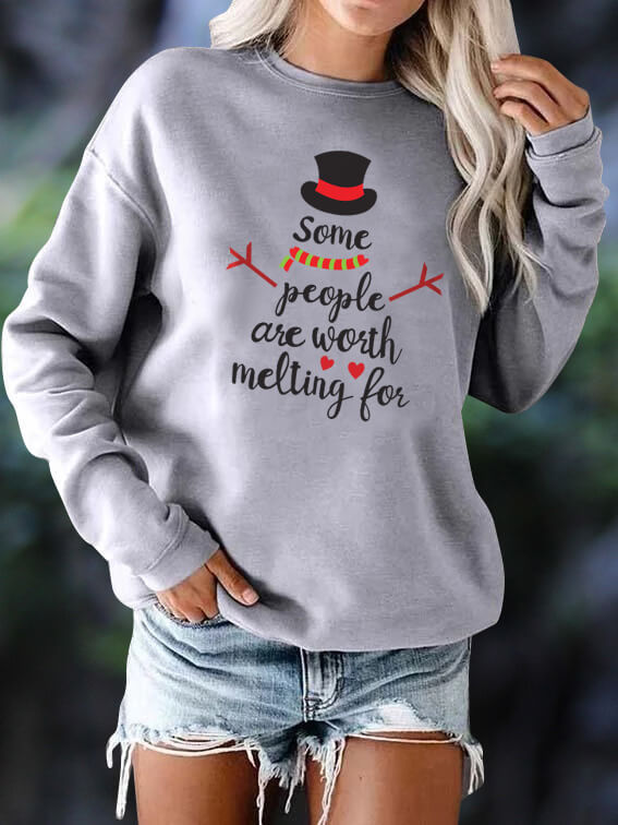 [PRE-SALE] Snowman Some People Are Worth Melting For Sweatshirt