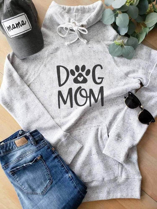Dog Mom Cute With Pocket Sweatshirt