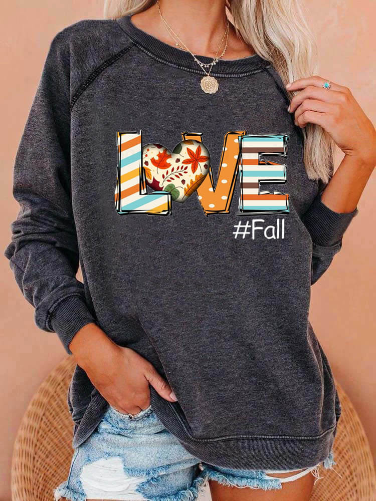 Love Fall Novelty Sweatshirt