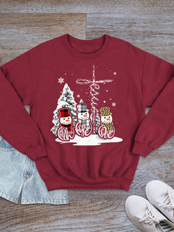 [PRE-SALE] Faith Hope Love Jesus Snowman Sweatshirt