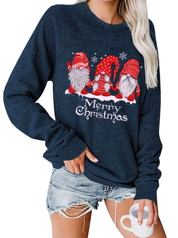 Red Gnomies Merry Christmas Sweatshirt