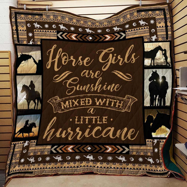 Horse Girls Are Sunshine Blanket Quilt